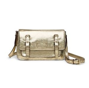 Kate Spade Flicker Scout crossbody Bag gold NEW
